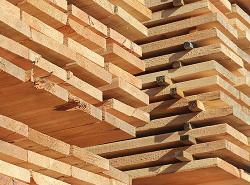 Drying of sawn wood